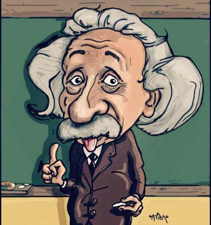 Karikatur dengan Tema Gambar Albert Einstein