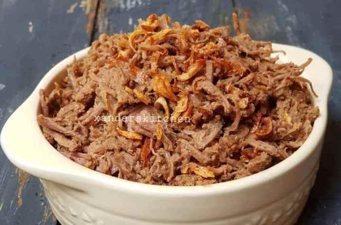 Resep Empal Daging Suwir