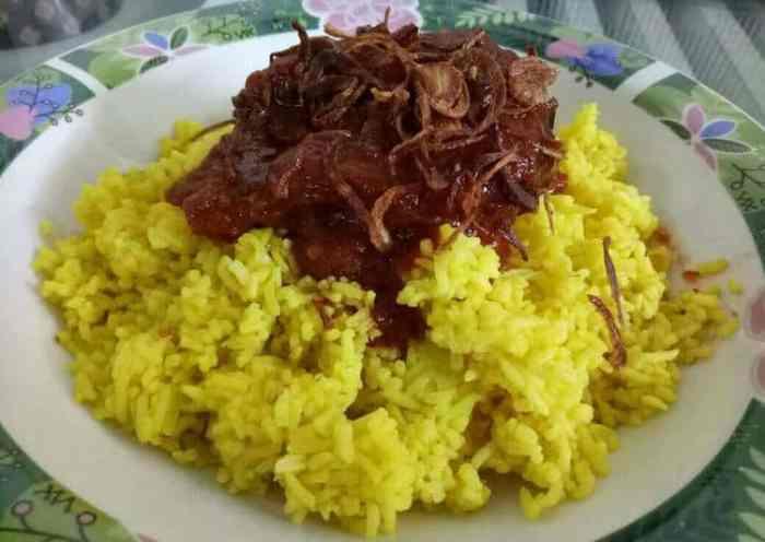 Resep Nasi Kuning Lauk Habang