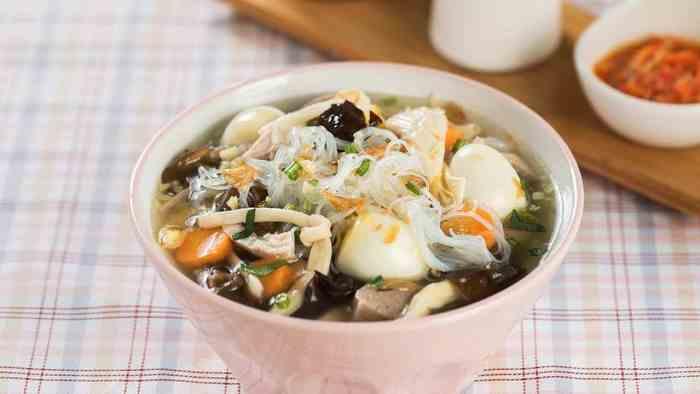 Resep Sop Ayam Jamur Telur Puyuh