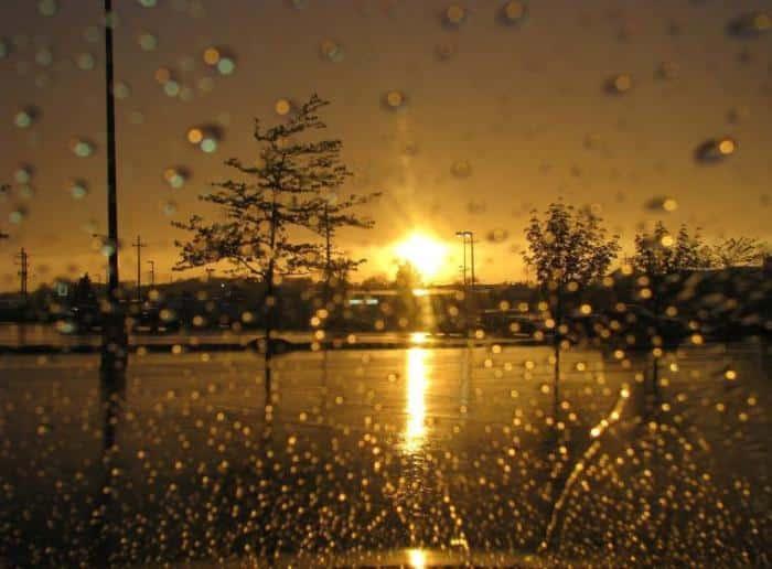 Sajak Pertemuan Hujan Senja