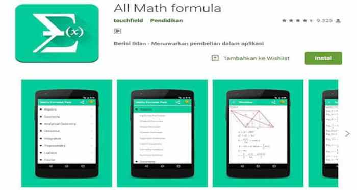 All Math Formula Aplikasi Matematika
