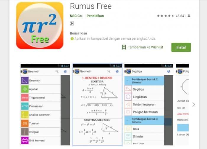 Aplikasi Matematika Populer Rumus Free