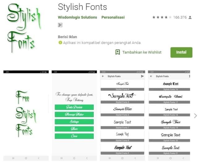 Aplikasi Pembuat Tulisan Stylish Font
