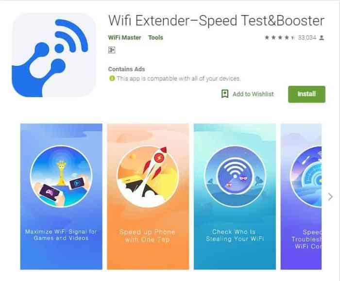 Aplikasi Penguat Sinyal-Speed Test