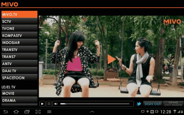 Aplikasi untuk Nonton TV, Mivo TV terbaik