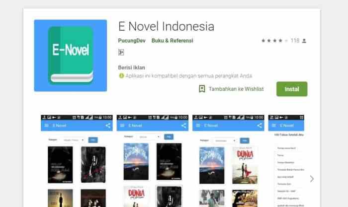 E NOVEL INDONESIA