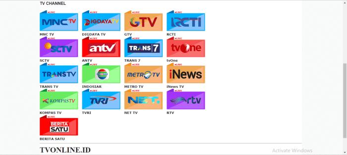 Indonesia live streaming, aplikasi nonton terbaik tanpa lemot