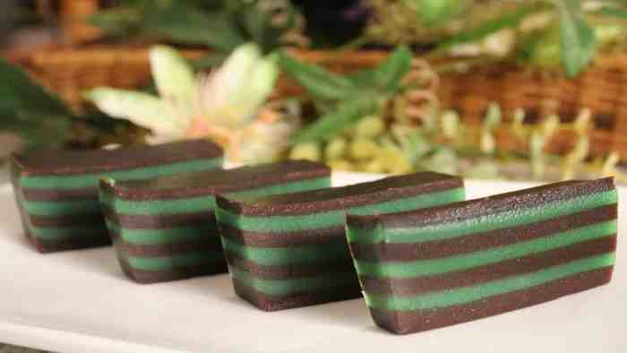 Resep Kue Lapis Coklat Pandan
