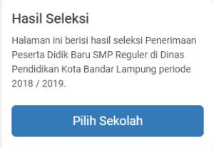 Hasil Seleksi PPDB SMP Negeri Kota Bandar Lampung