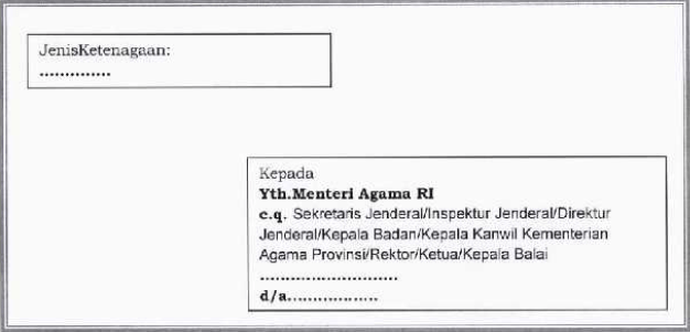 Contoh Amplop Lamaran Pengiriman Berkas CPNS Kemenag