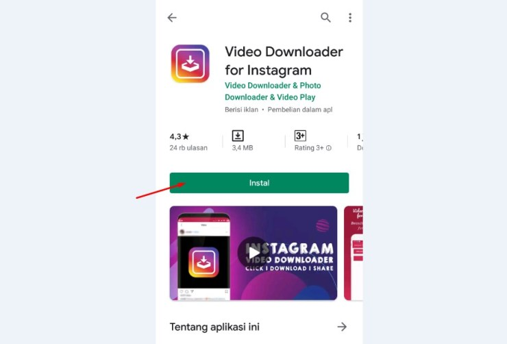Download dan Install Aplikasi Video Downloader for Instagram
