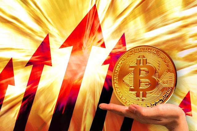 爆上げする仮想通貨ビットコイン