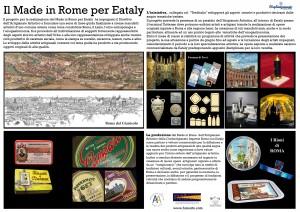 MADE in ROME per EATALY SCHEDA PROGETTO ok