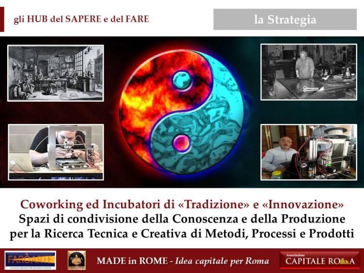 gli HUB del Sapere e del Fare per il Made in Rome