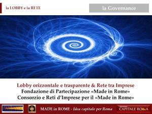 la Governance del Made in Rome