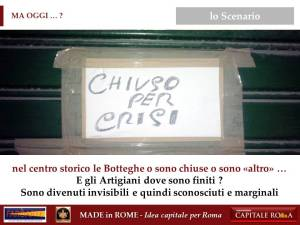 la Crisi come opportunità per il Made in Rome