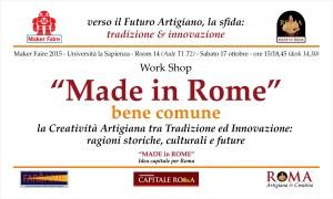 Invito MF15 - Made in Rome, bene comune