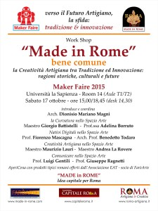Work Shop MF15 - Made in Rome, bene comune