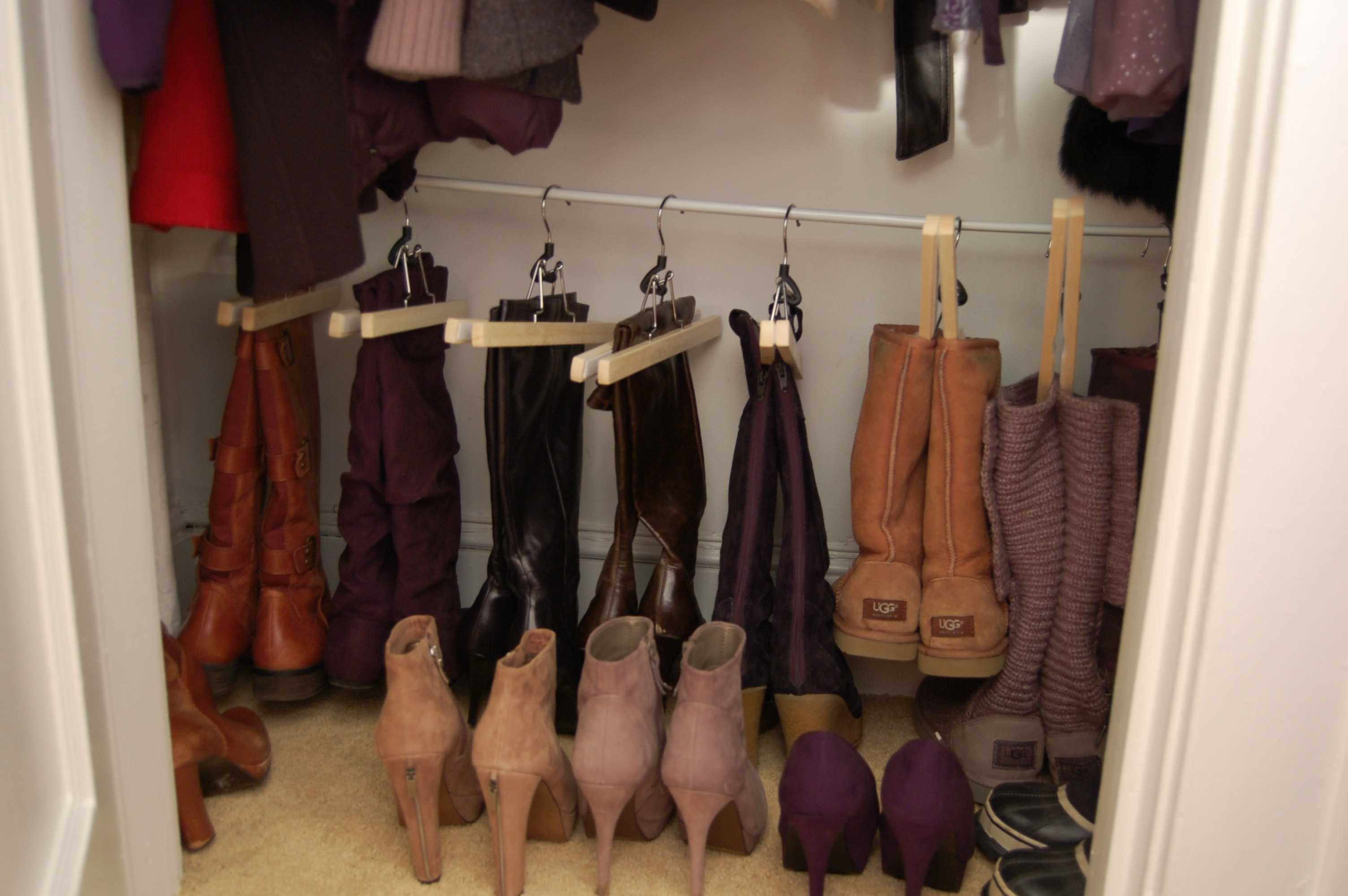 Organizing Your Shoe Closet {boot Edition}  Made2style