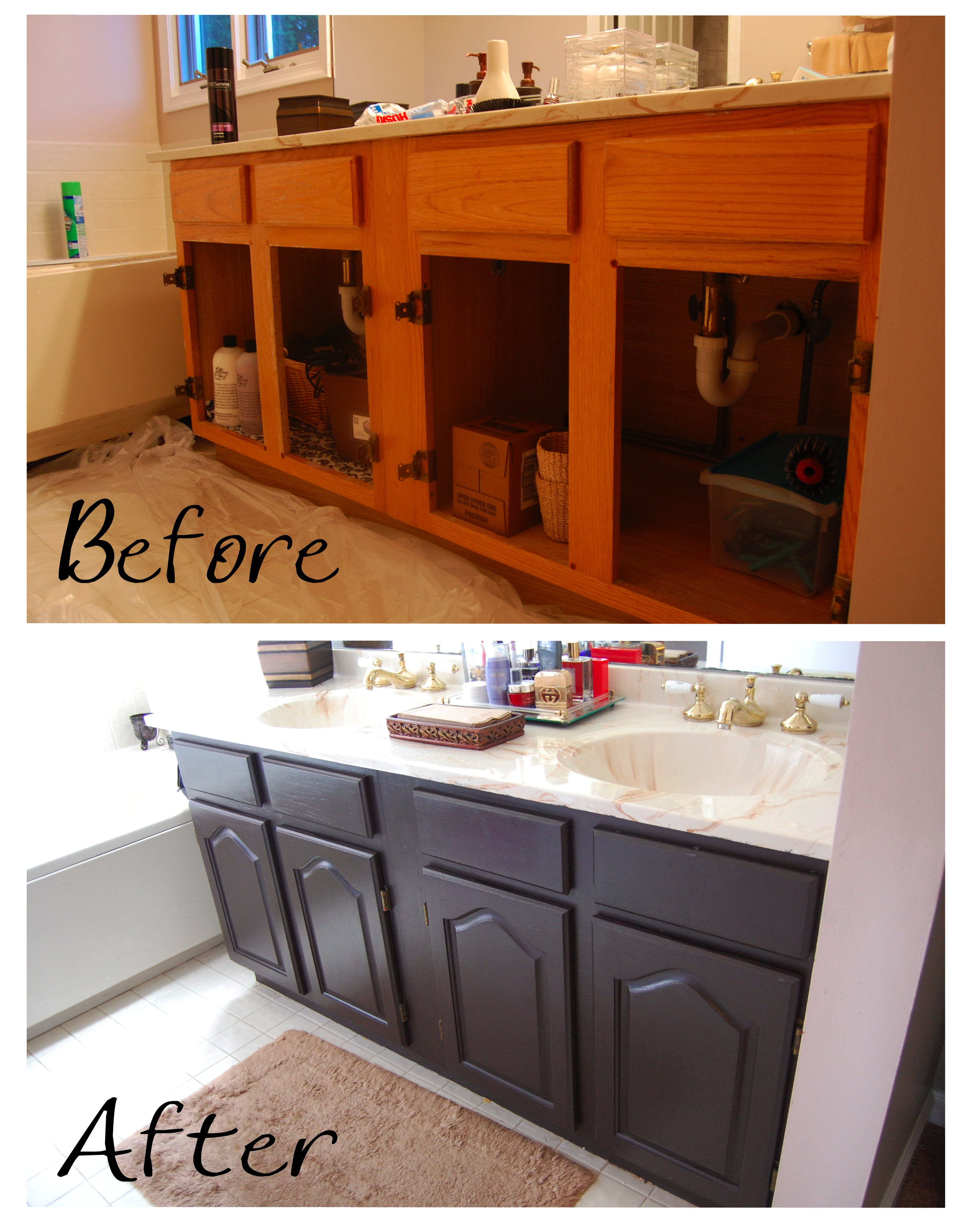 Painting a Bathroom Vanity  Made2Style