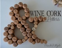 Wine Cork Initials & Place Card Holders  Made2Style