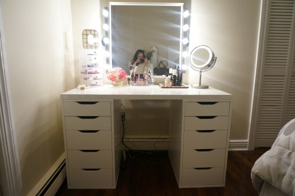 IKEA Makeup Vanity Table Mirror with Lights