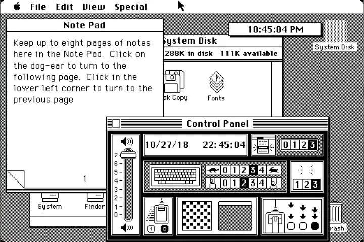 Macintosh System Software 1.1