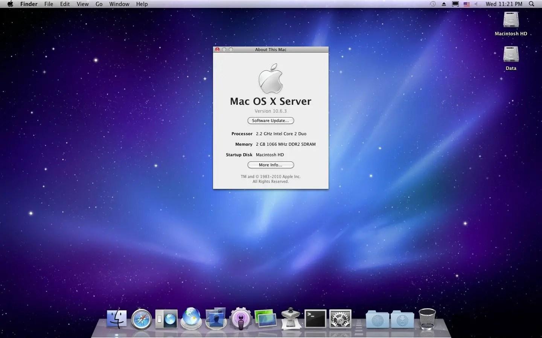 Mac OS X Server 10.6.3 Snow Leopard