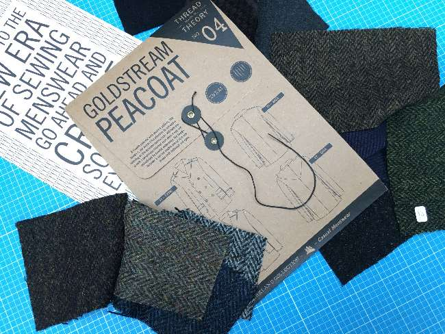 Pattern and wool coating fabric samples