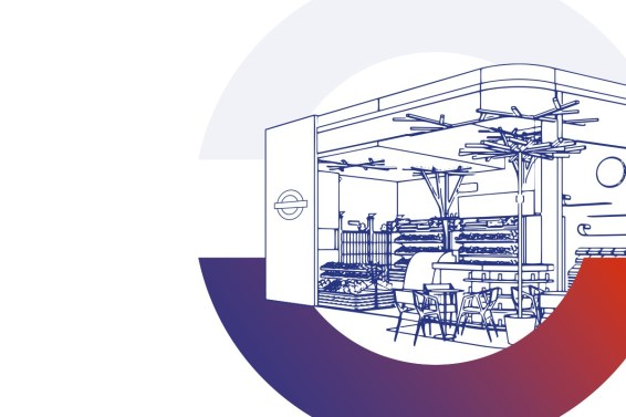 Computer generated visualisation of retail space