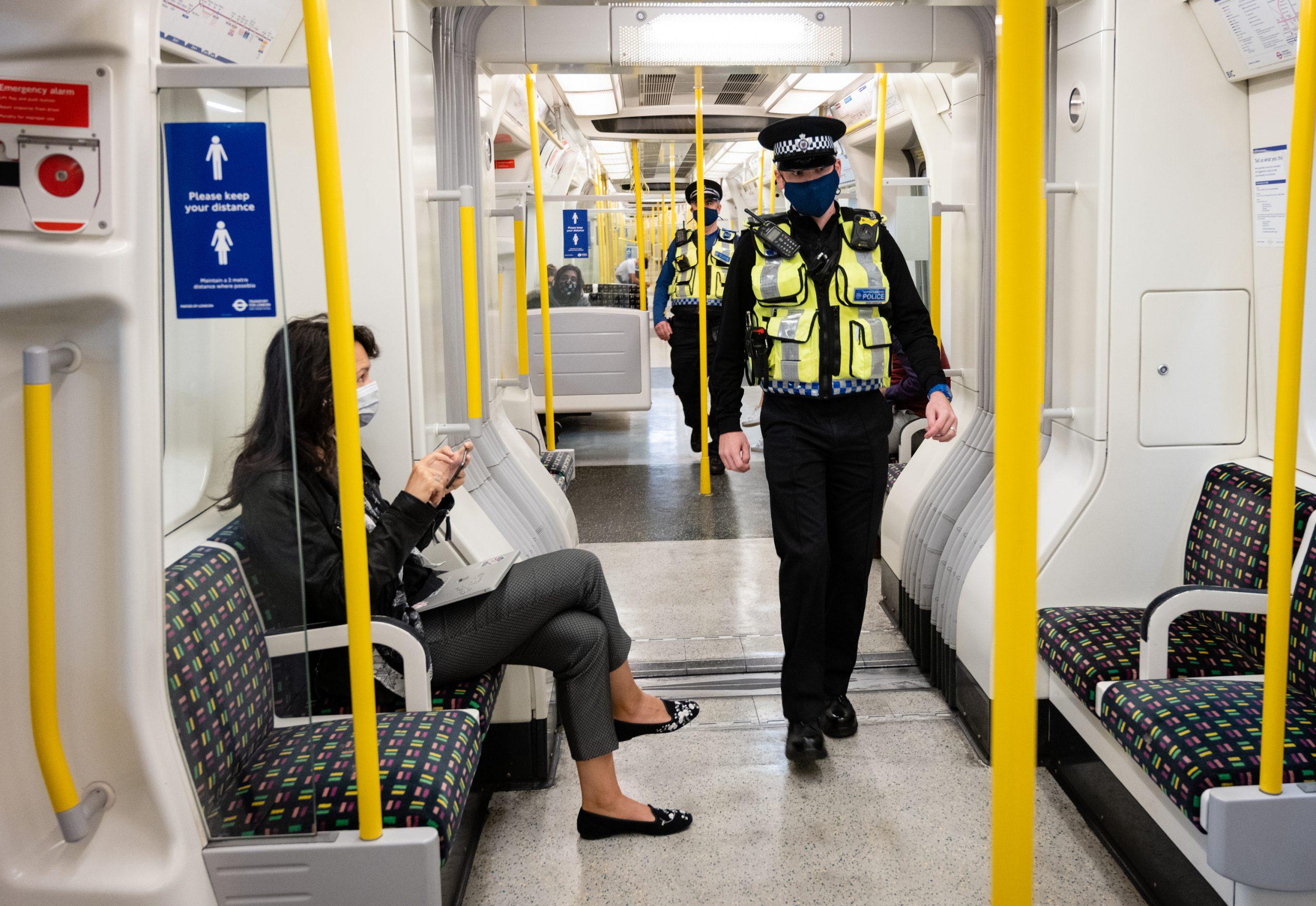 TfL face coverings enforcement on bus