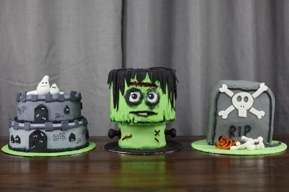 Halloween kaker laget med giveaway pakke