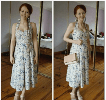 How much you can improve in a year, made from a simplicity pattern.