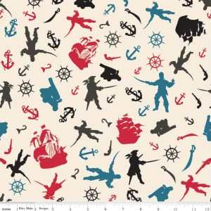 Riley Blake Pirate Matey's Fabric | Jaime Johnson