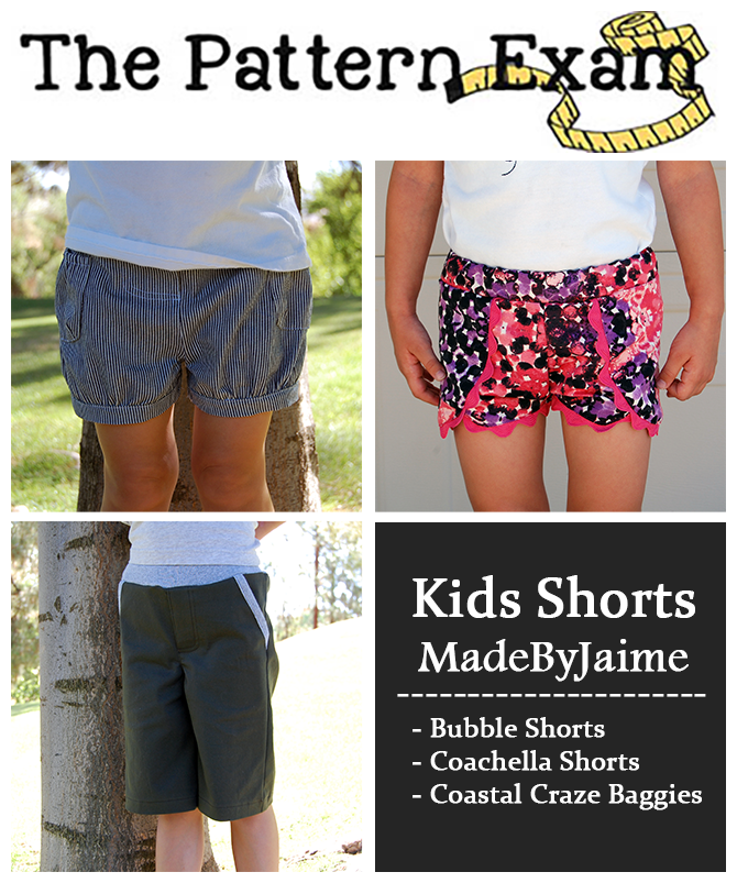 Kids Shorts Review at ThePatternExam.com | MadeByJaime