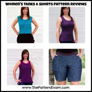 Women's Tanks and Shorts Pattern Review MadeByJaime | ThePatternExam.com