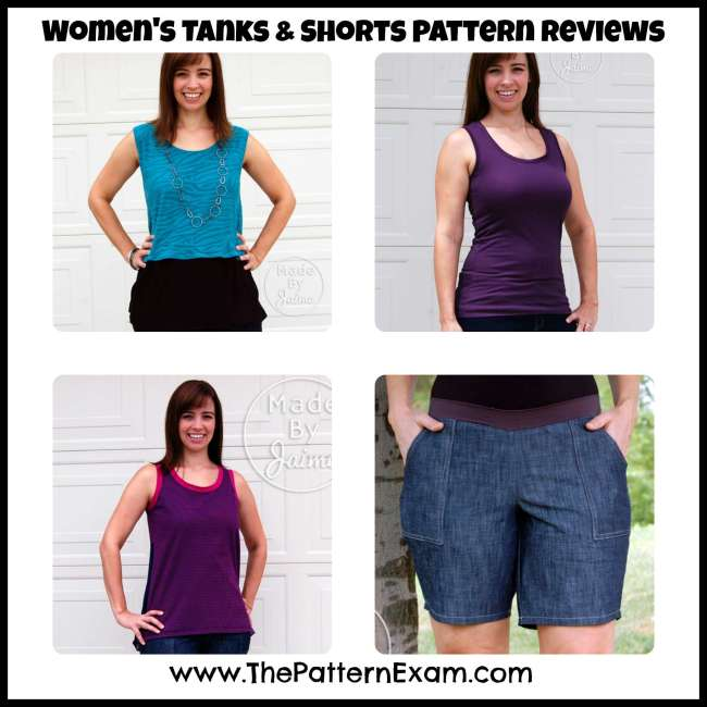 Women's Tanks and Shorts Pattern Review MadeByJaime | ThePatternExam.com