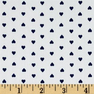white with navy hearts