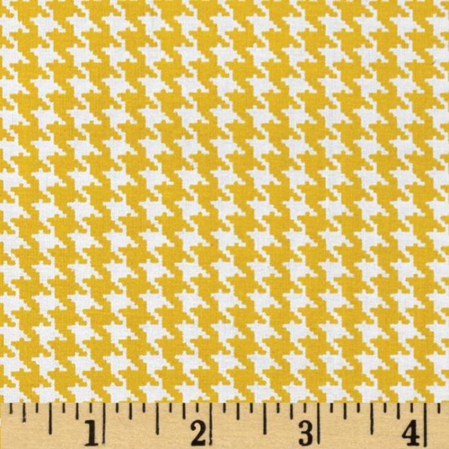 yellow white houndstooth