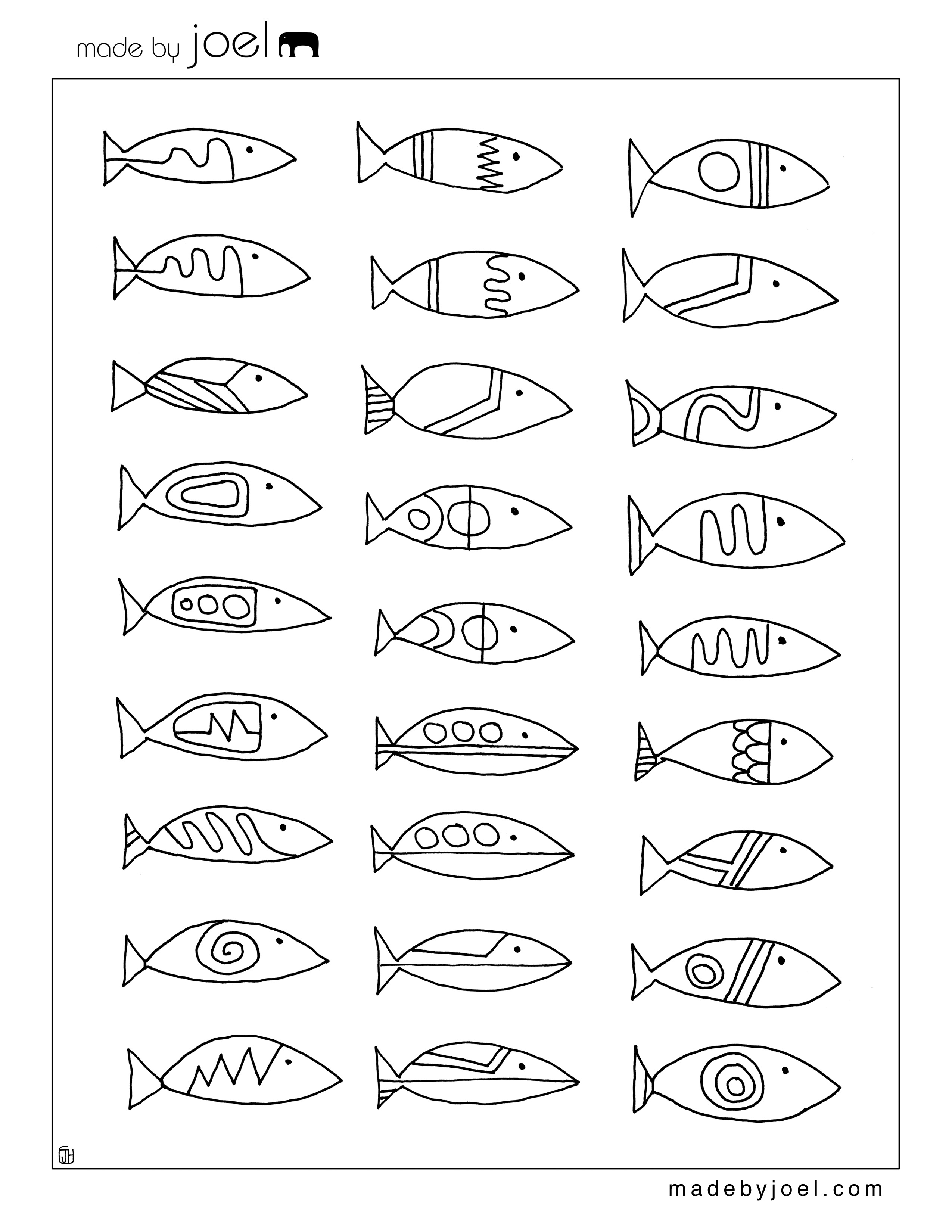 Made By Joel Made By Joel Modern Fish Designs Coloring