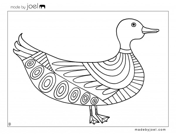 joel duck and goat coloring