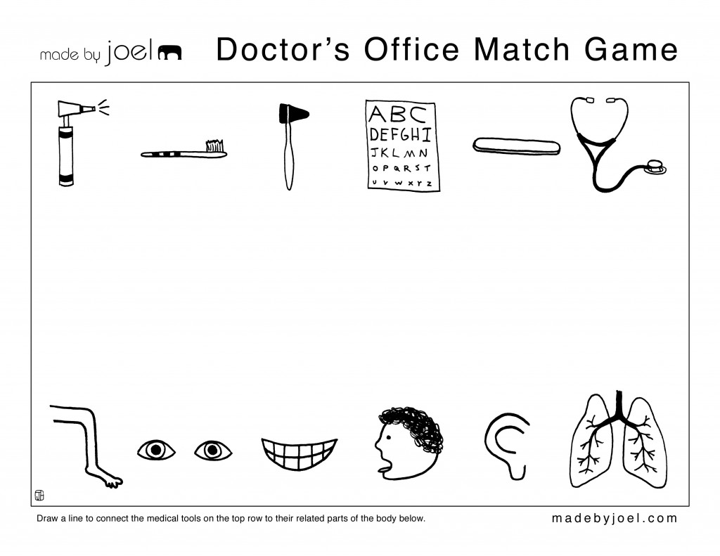 Made By Joel Doctor S Office Match Game