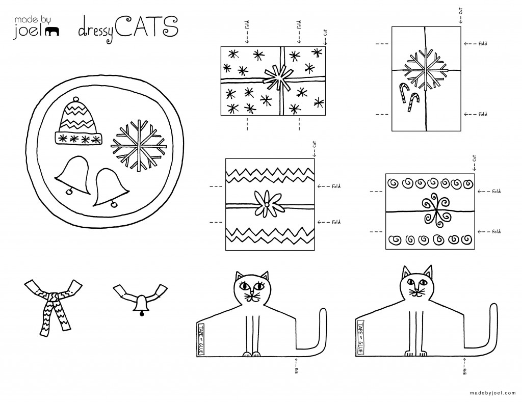 Made By Joel Dressy Cats Winter Holiday Sets For