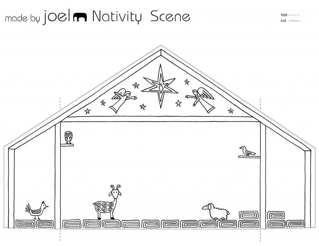 Paper City Nativity Scene Made By Joel