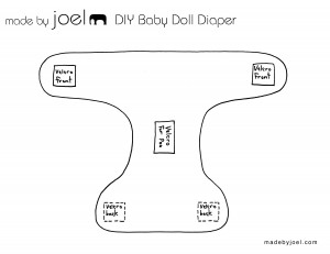 Made by Joel DIY Baby Doll Diaper Template