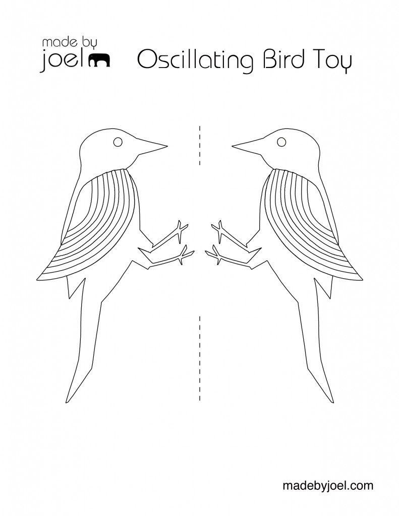 Oscillating Bird Science Toy For Kids