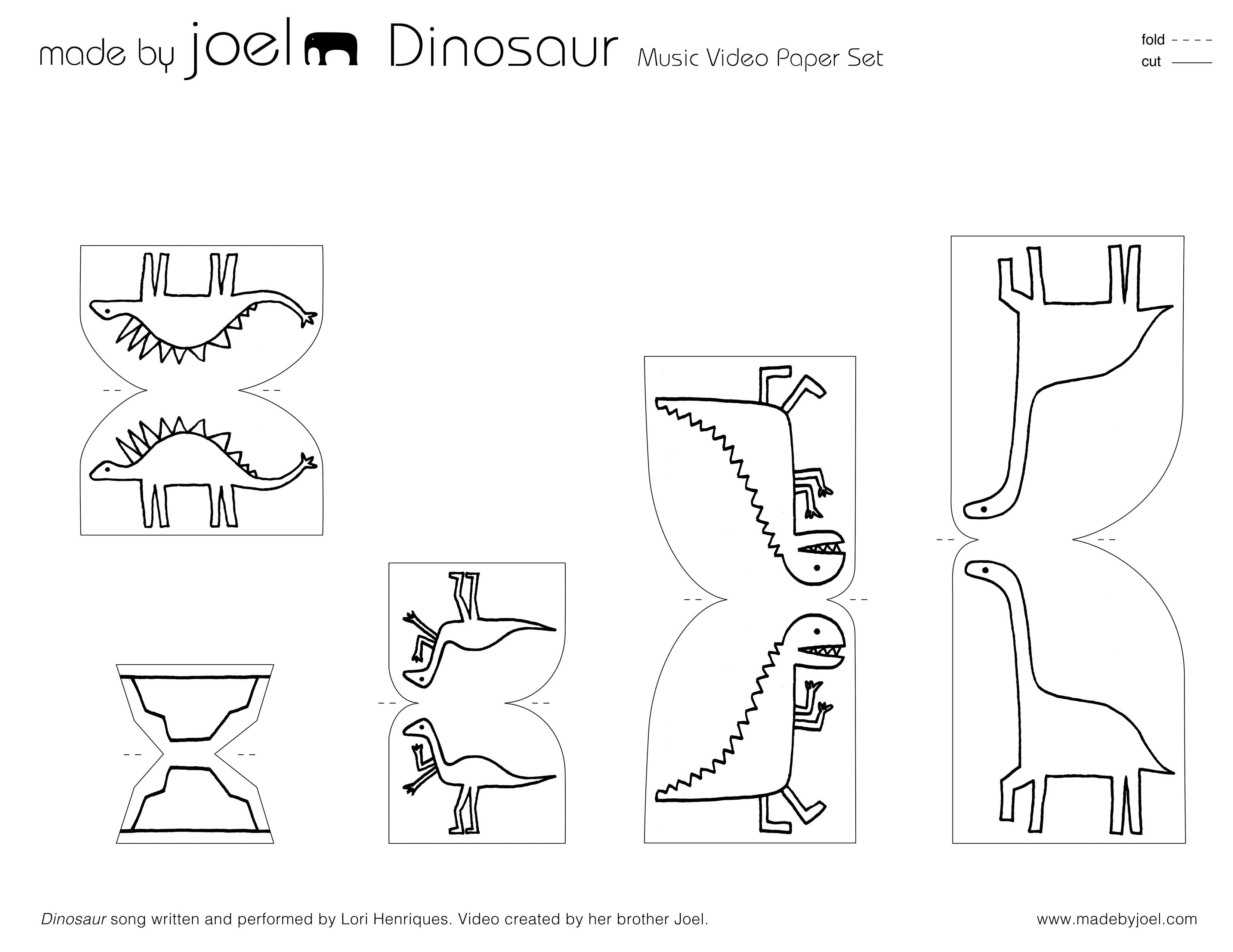 Made By Joel Made By Joel Dinosaur Paper City 2