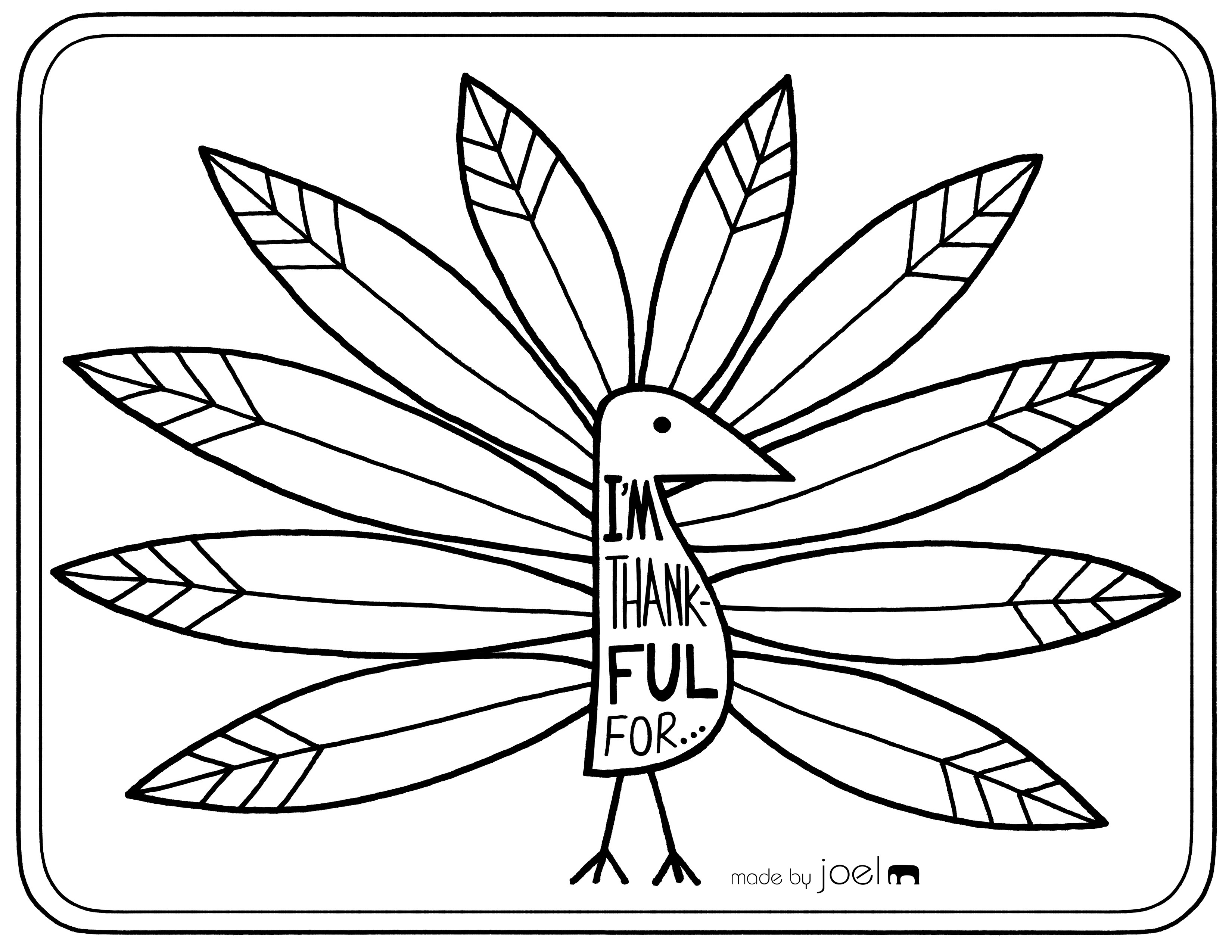 Printable Placemat For Giving Thanks Made By Joel