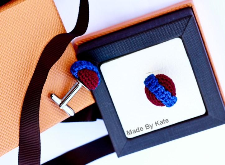 crochet cufflinks